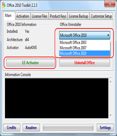 Office 2010 Toolkit 2.2.3 мощный рабочий активатор для Microsoft Office.
